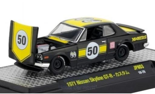 Nissan Skyline 1/64 M2 Machines GT-R black/yellow 1971 diecast model cars