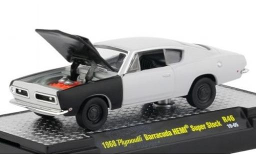 Plymouth Barracuda 1/64 M2 Machines HEMI Super Stock matt-grise/matt-noire 1968 miniature