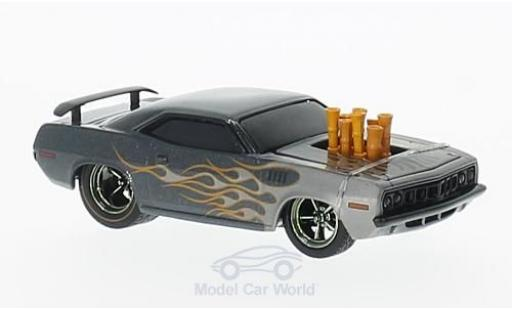Plymouth Cuda 1971 1/64 M2 Machines 440 metallise grise Tuning Wild Cards Release WC05 miniature