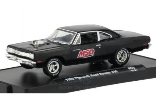 Plymouth Road Runner 1/64 M2 Machines 440 MSD 1969 miniatura