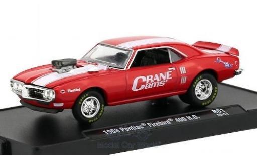 Pontiac Firebird 1/64 M2 Machines 400 H.O. rouge/blanche Crane Cams 1968