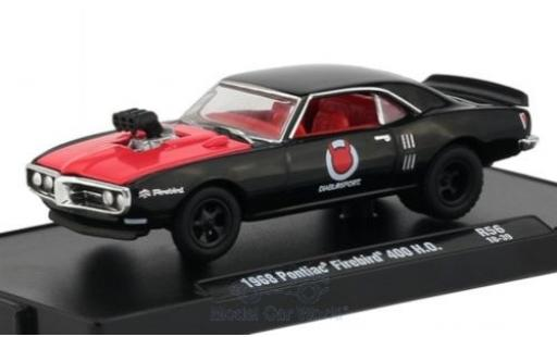 Pontiac Firebird 1/64 M2 Machines 400 H.O. noire/rouge 1968 miniature