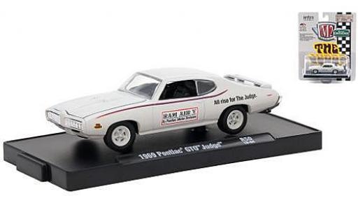 Pontiac GTO 1/64 M2 Machines Judge blanche Motor Division 1969 miniature