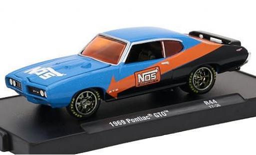 Pontiac GTO 1/64 M2 Machines metallise bleue/noire Nos 1969 voiture-Drivers Release 44 sans Vitrine miniature