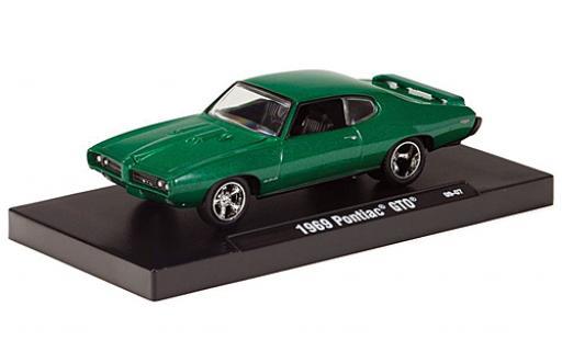 Pontiac GTO 1/64 M2 Machines metallise green 1969 diecast model cars