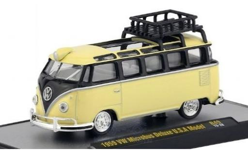 Volkswagen T1 1/64 M2 Machines Deluxe beige/noire 1959 miniature