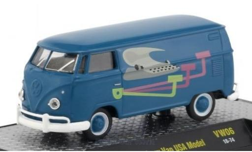 Volkswagen T1 1/64 M2 Machines Kastenwagen blue/Dekor 1960 USA-Version diecast