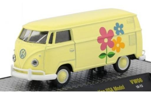 Volkswagen T1 1/64 M2 Machines Kastenwagen jaune/Dekor 1960 USA-Version miniature