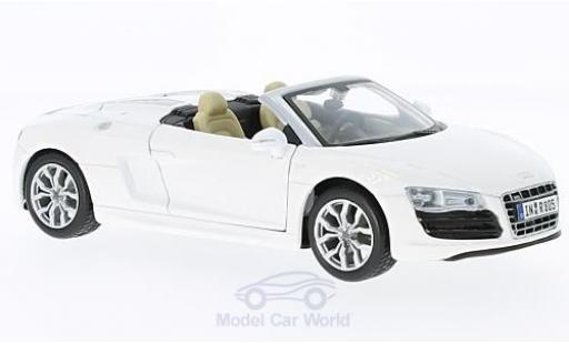 Audi R8 1/24 Maisto Spyder blanche miniature