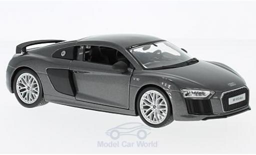Audi R8 1/24 Maisto V10 Plus metallic-grise miniature
