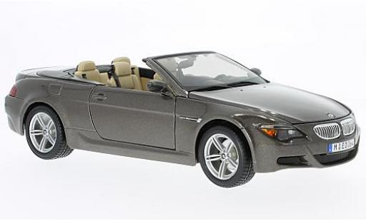 Bmw M6 1/18 Maisto Cabriolet (E64) metallise brown diecast model cars