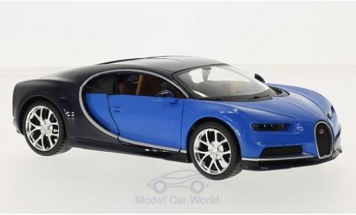 Bugatti Chiron 1/24 Maisto bleue/bleue 2016 miniature