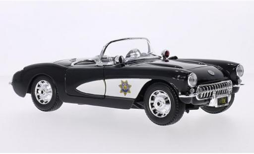 Chevrolet Corvette 1/18 Maisto (C1) State Highway Patrol 1957 diecast model cars