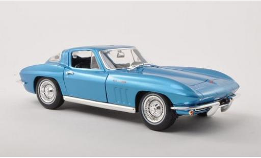 Chevrolet Corvette 1/18 Maisto Sting Ray metallise blue 1965 diecast model cars