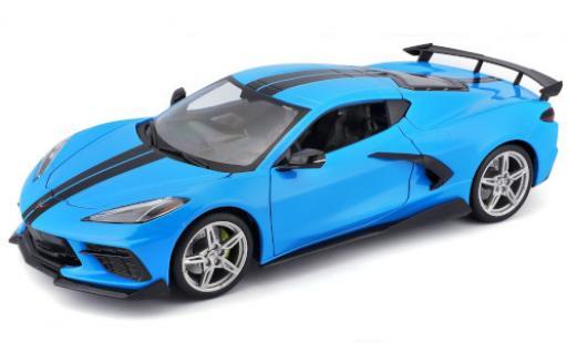 Chevrolet Corvette 1/18 Maisto Stingray (C8) blue/black 2020 diecast model cars