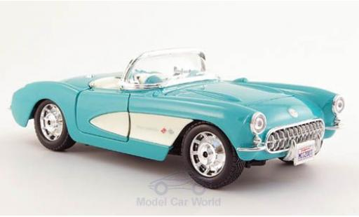 Chevrolet Corvette C1 1/24 Maisto turquoise/white 1957 diecast model cars
