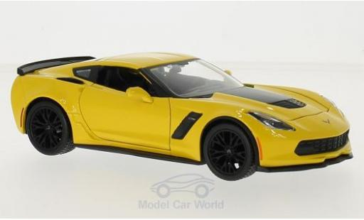 Chevrolet Corvette C7 1/24 Maisto yellow 2015 diecast
