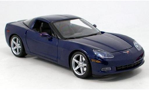 Chevrolet Corvette 1/18 Maisto Z06 metallise blue sans Vitrine diecast model cars