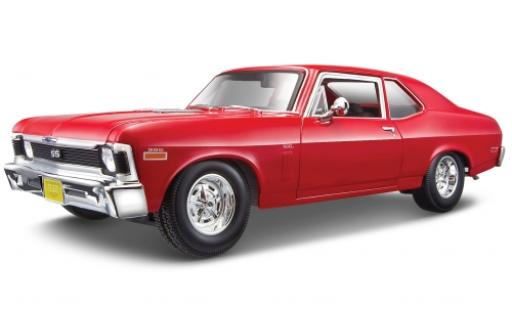 Chevrolet Nova 1/18 Maisto SS Coupe rouge 1970 miniature