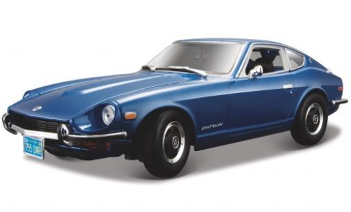 Datsun 240Z 1/18 Maisto metallise bleue 1971 miniature