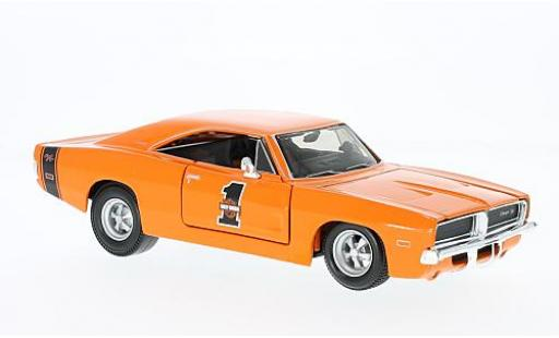 Dodge Charger 1/24 Maisto R/T orange Harley-Davidson 1969 miniature