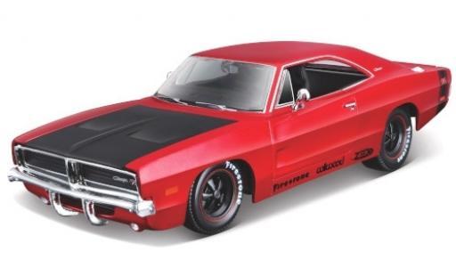 Dodge Charger 1/24 Maisto R/T Tuning metallise red/matt-black 1969 diecast model cars