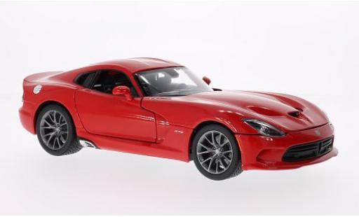 Dodge Viper 1/18 Maisto SRT GTS rouge 2013 miniature
