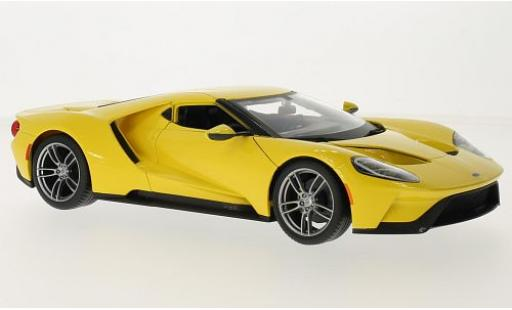 Ford GT 1/18 Maisto yellow 2017 diecast model cars