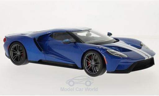 Ford GT 1/18 Maisto metallico blu/bianco 2015 miniatura