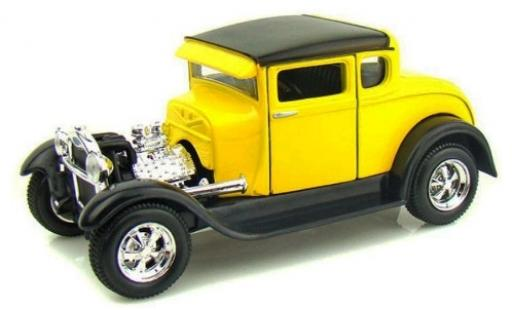 Ford Model A 1/24 Maisto Hot Rod jaune/noire 1929 miniature
