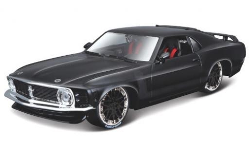 Ford Mustang 1/24 Maisto BOSS 302 Tuning black/matt-black 1970 diecast model cars