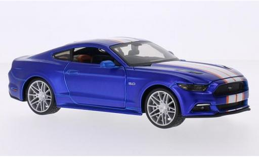 Ford Mustang 1/24 Maisto GT Custom Tuning matt-bleue/Dekor 2015 miniature