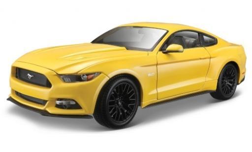 Ford Mustang 1/18 Maisto GT jaune 2015