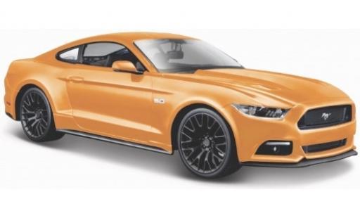 Ford Mustang 1/18 Maisto GT metallise orange 2015 miniature