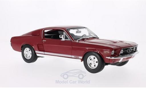 Ford Mustang 1/18 Maisto GTA Fastback rouge 1967 miniature
