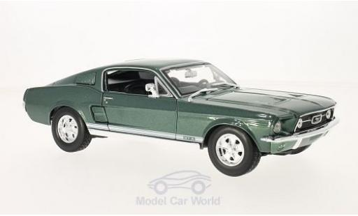 Ford Mustang GT 1/18 Maisto GTA Fastback metallic-dunkelgrün 1967 miniature