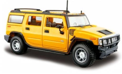 Hummer H2 1/24 Maisto Station Wagon jaune 2003 1:27 miniature