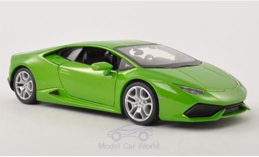 Lamborghini Huracan 1/24 Maisto LP 610-4 hellgrün 2014 diecast