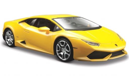 Lamborghini Huracan 1/24 Maisto LP 610-4 metallise yellow 2014 diecast model cars