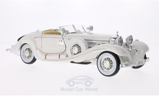 Mercedes 500 1/18 Maisto K Typ Spezial-Roadster blanche Maharadjah 1936 miniature