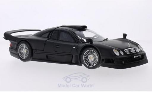 Mercedes CLK GTR 1/18 Maisto GTR matt-noire Street Version miniature