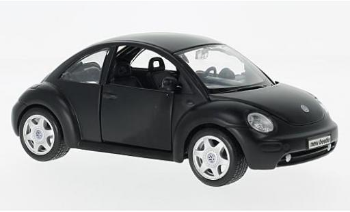 Volkswagen New Beetle 1/24 Maisto matt-noire l'éce 1:25 sans Vitrine miniature