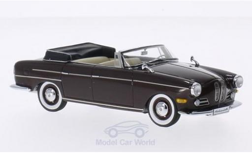 Bmw 3200 1/43 Matrix Super Cabriolet marron 1959 by Autenrieth miniature
