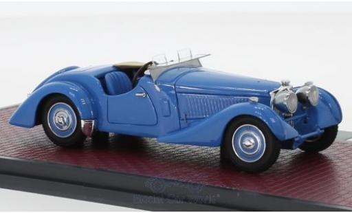 Bugatti 57 1/43 Matrix Type S Corsica Roadster bleue RHD 1937 Malcolm Campbell #531 miniature