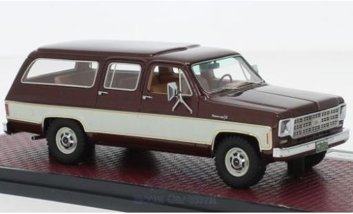 Chevrolet Suburban 1/43 Matrix K10 metallise rouge/beige 1978 miniature