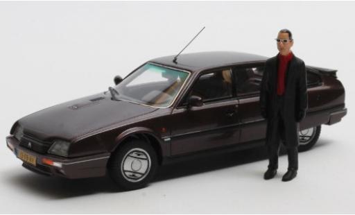 Citroen CX 1/43 Matrix 25 GTi Turbo 2 metallise violette 1986 Rotterdam Edition avec Figur: Jules D. miniature