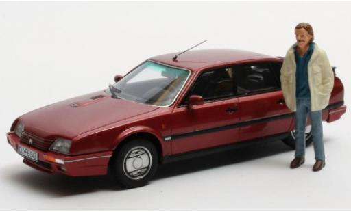 Citroen CX 1/43 Matrix 25 GTi Turbo 2 metallise rouge 1986 Duisburg Edition avec Figur: Horst S. miniature