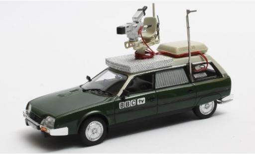 Citroen CX 1/43 Matrix Safari metallise verte/beige RHD BBC 1982 Kamerawagen miniature