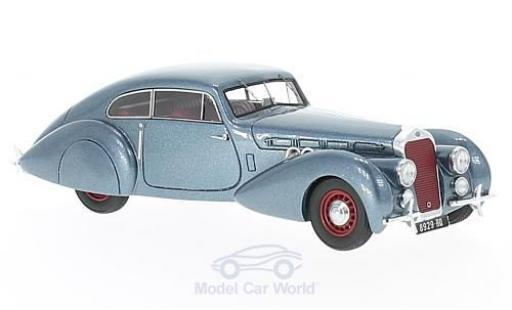 Delage D8-120 1/43 Matrix S Pourtout Coupe metallise bleue RHD 1938 miniature