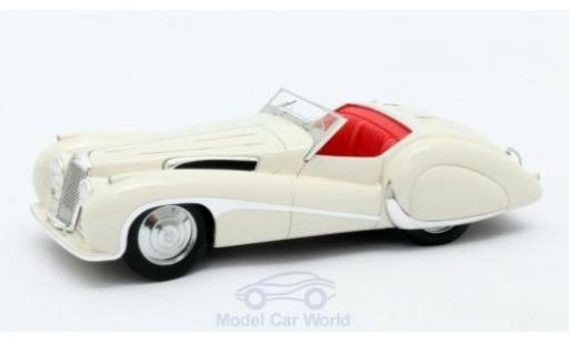 Jaguar SS 1/43 Matrix 100 white 1939 Roadster Vanden Plas diecast